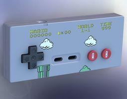 Printable Super Mario 8-bit style NES controller 3D Model