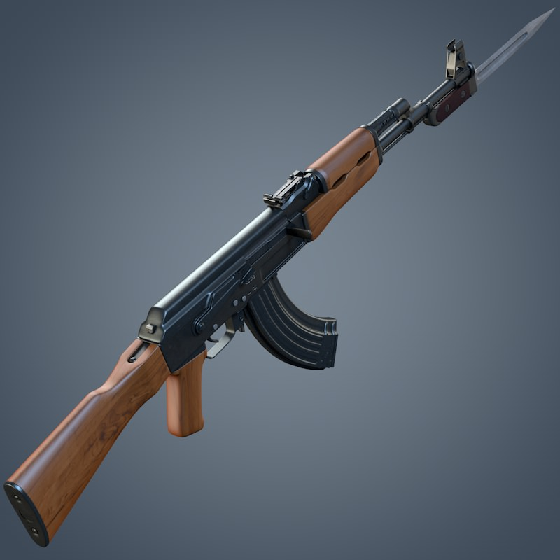Kalashnikov AK-47 assault rifle | 3D model