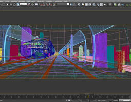 high speed train 3d model animated