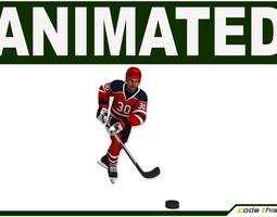 Hockey Player Hi-poly 3D Model