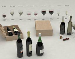 3D model Wine set