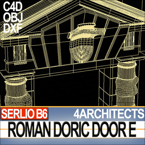 Renaissance doric door e revit stl 3d model 3d printable for Architecture 3d vue 3d