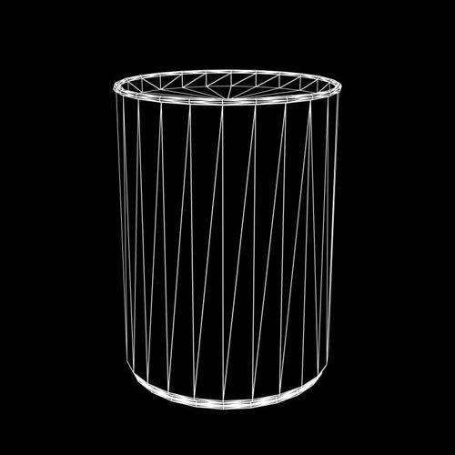 old water barrel 3d model low-poly obj fbx lwo lw lws mtl 2