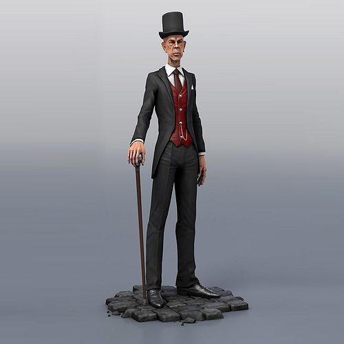 evil male character 3d model low-poly rigged obj mtl fbx c4d tga 1