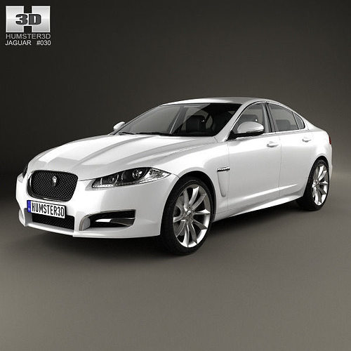 Jaguar Xf Sportbrake 2012 3d Model: 3D Model Jaguar XF With HQ Interior 2012