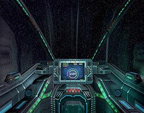 game-ready 3DRT - Sci-Fi Spaceship Cockpit 6