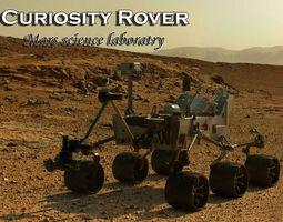 curiosity rover-mars science laboratory 3d model