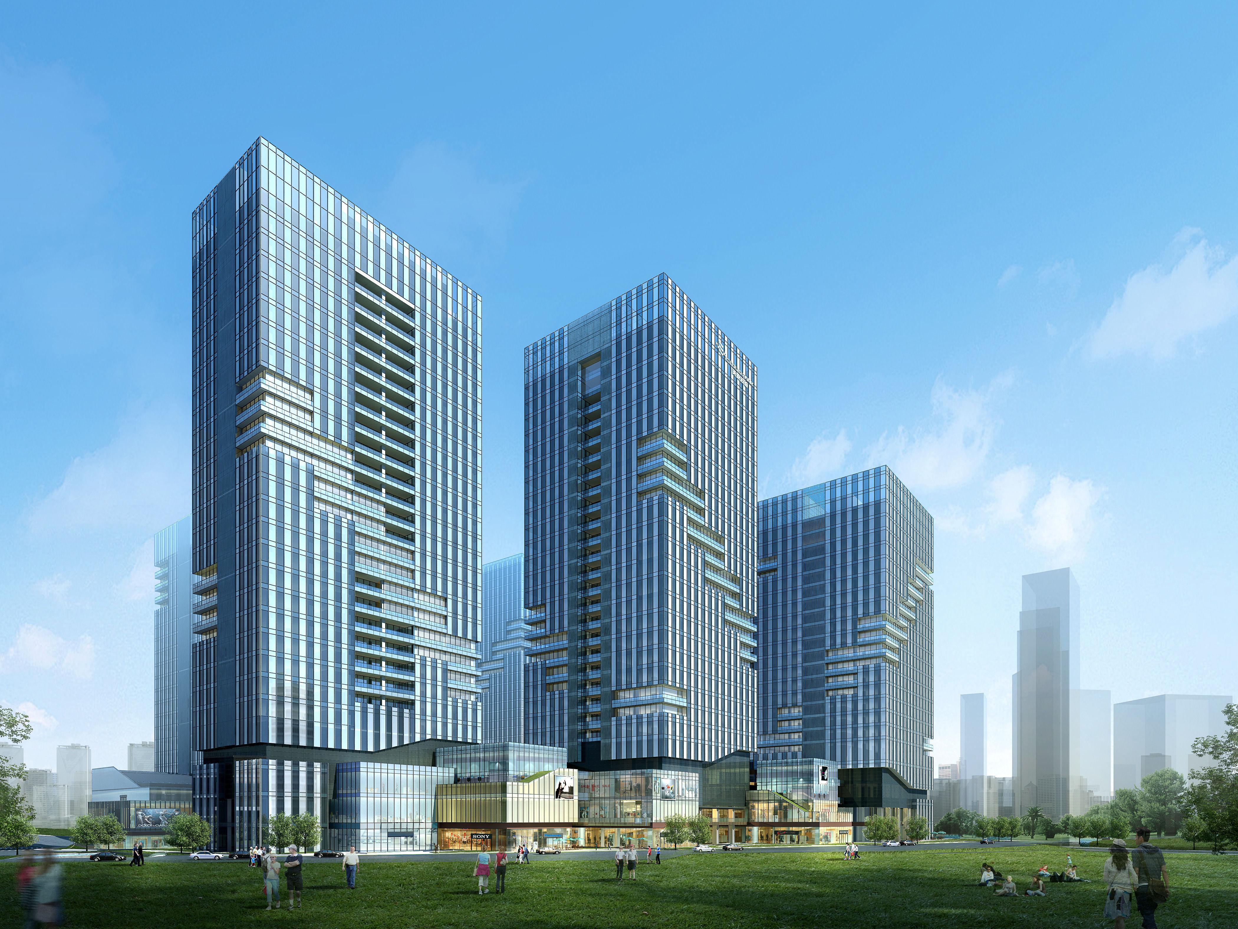 Skyscraper office building 030 3d model max for 3d max building