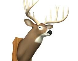 Mounted Deer Trophy 3D model