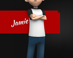 3D model Jamie Toon Kid Character