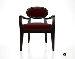 promemoria amina dining chair with arms 3d