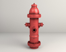 game-ready 3d model city fire hydrant