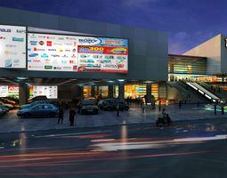 3d scene Topcare Shopping mall landscape