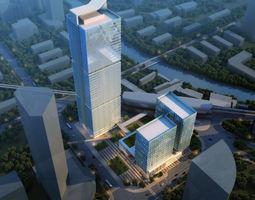 Skyscraper Office Building traffic 3D model