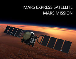 mars express satellite 3d