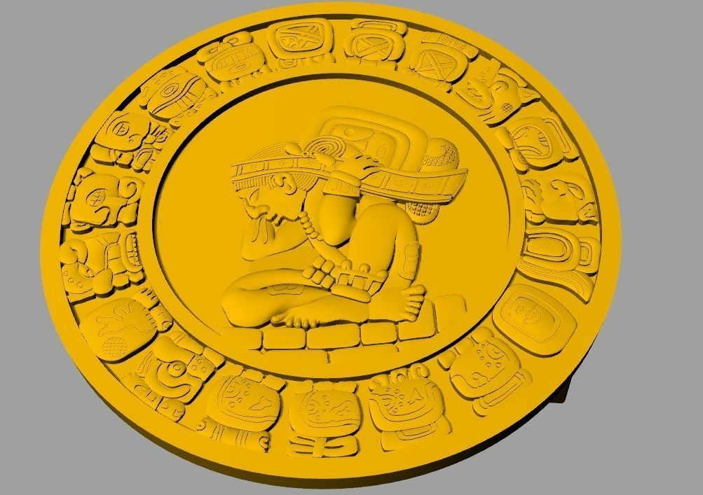 Mayan Belt Buckle