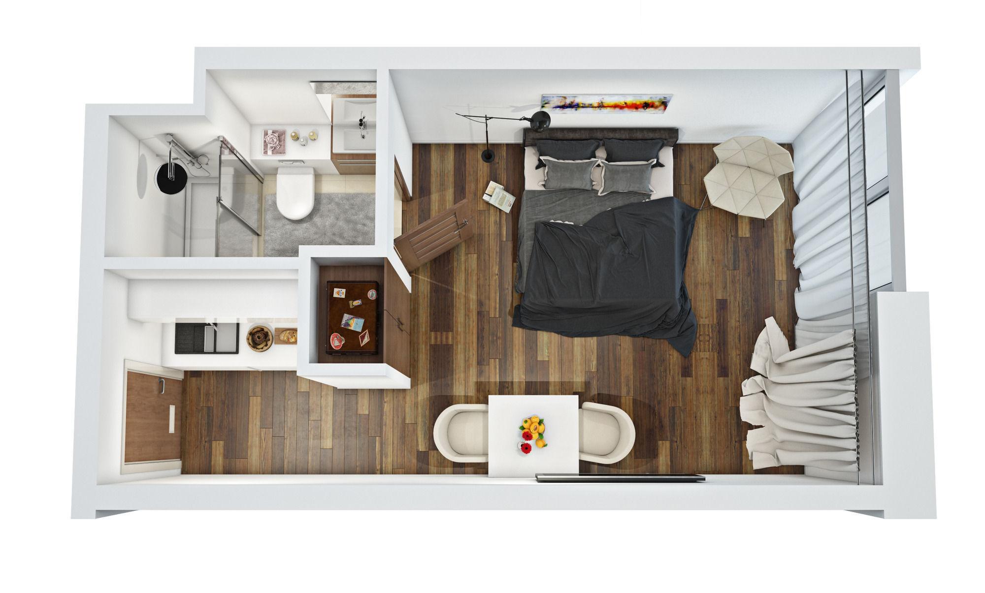 3d Floor Plan 3d Model Max Obj Mtl