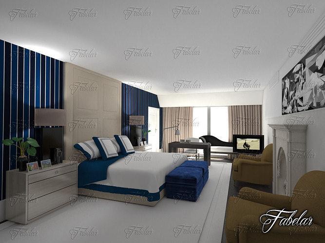 Bedroom 3d Model Animated Max Obj 3ds Fbx C4d Dae 1