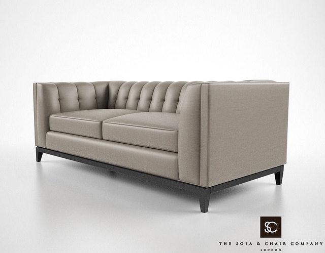 The sofa and chair company alexander sofa 3d model max obj for The sofa company