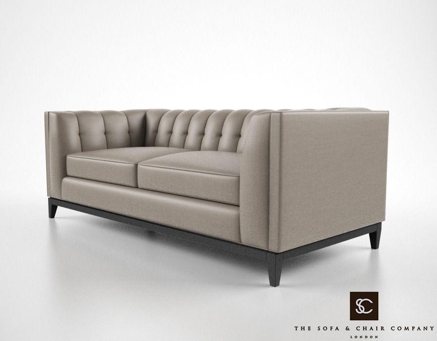 ... The Sofa And Chair Company Alexander Sofa 3d Model Max Obj Fbx Mtl 3 ...