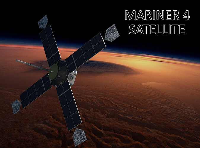 mariner satellite 3d model max obj mtl 3ds fbx 1