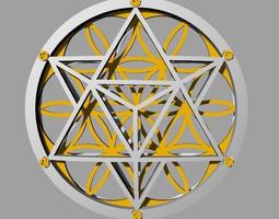 3d printable model flower of life pendant