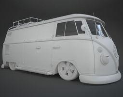 3D VW T1 Custom Bus