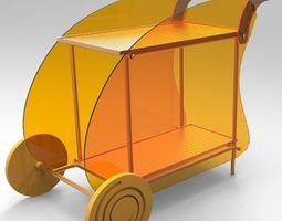 Outdoor trolley 3D Model