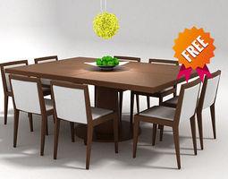 dining set fdv300 3d model