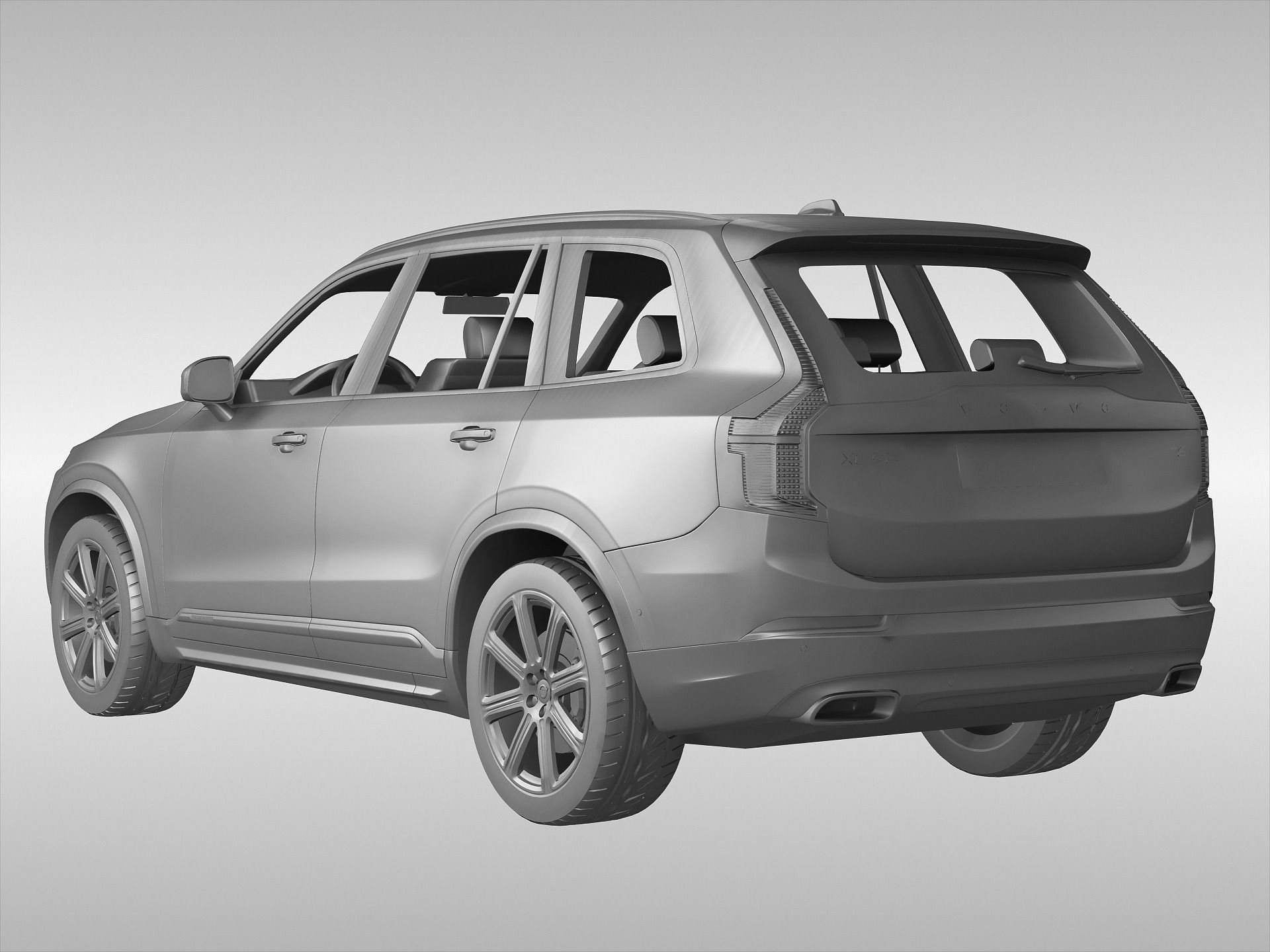 volvo xc90 2015 3d model max obj 3ds fbx cgtrader. Black Bedroom Furniture Sets. Home Design Ideas