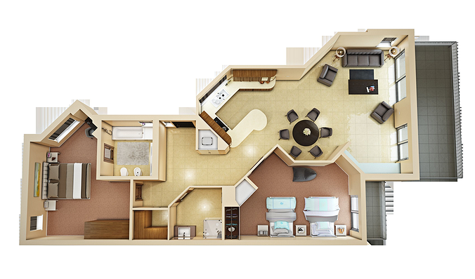 3d floor plan 4 cgtrader