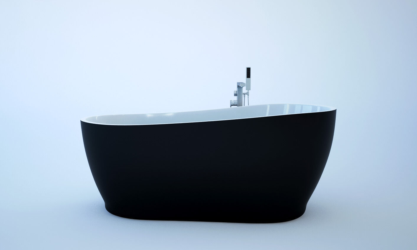 Freestanding bath 3d model c4d for 3d bathroom models