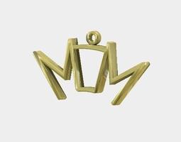 3D print model MOM pendant