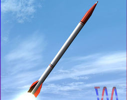 3D model Oghab Rocket