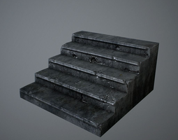 realtime 3d asset old stairs