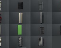 bathroom radiators heating blocks collection VR / AR ready 3d asset