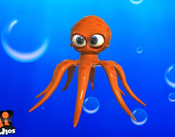Cartoon Octopus 3D Model