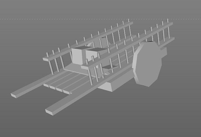 Low Poly - Supply Cart