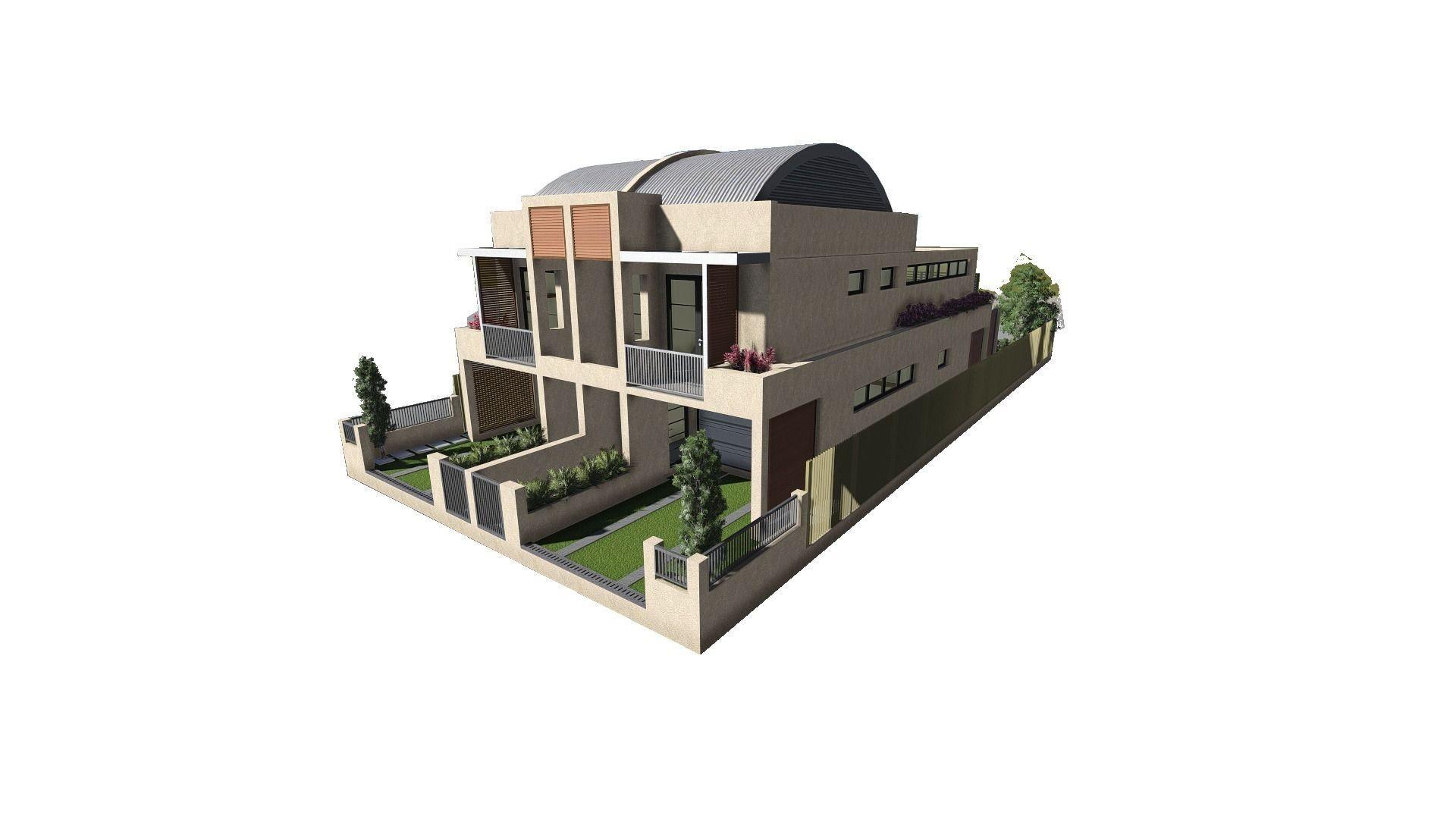 Modern house 3d model 3ds 1