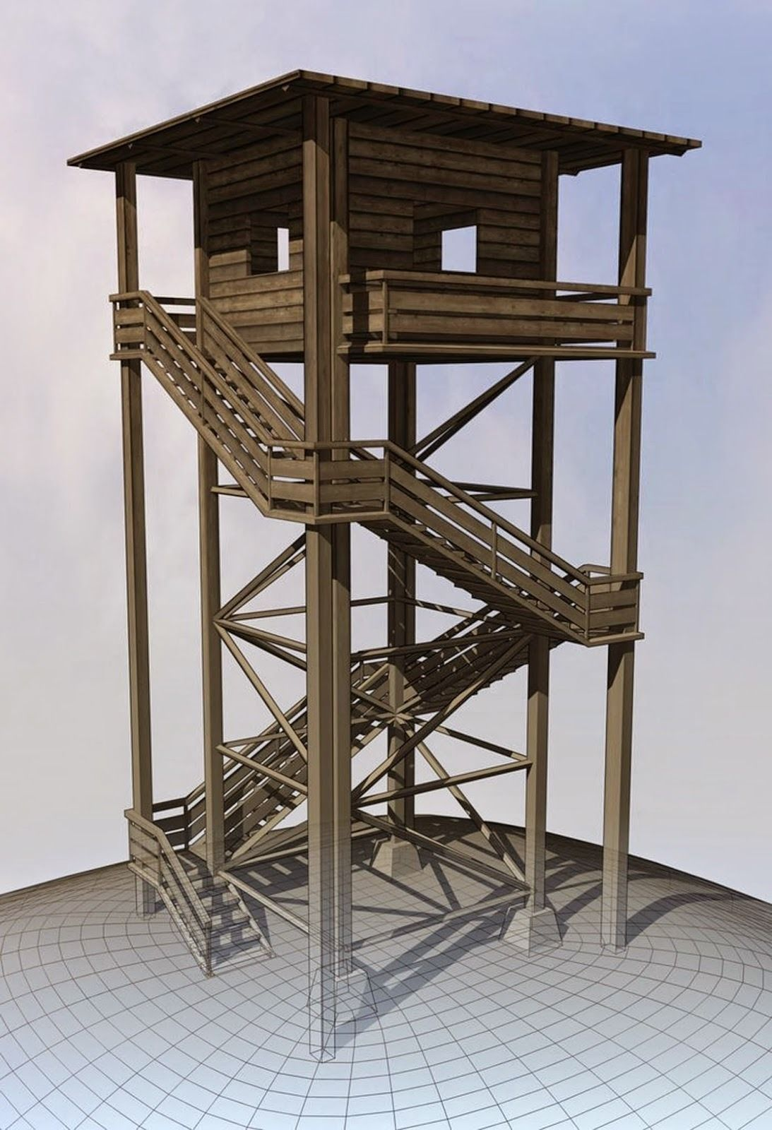 Watch Tower made of Wood