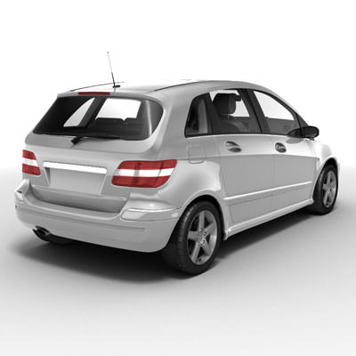 Mercedes benz b series 3d model max obj 3ds lwo lw lws ma for B series mercedes benz