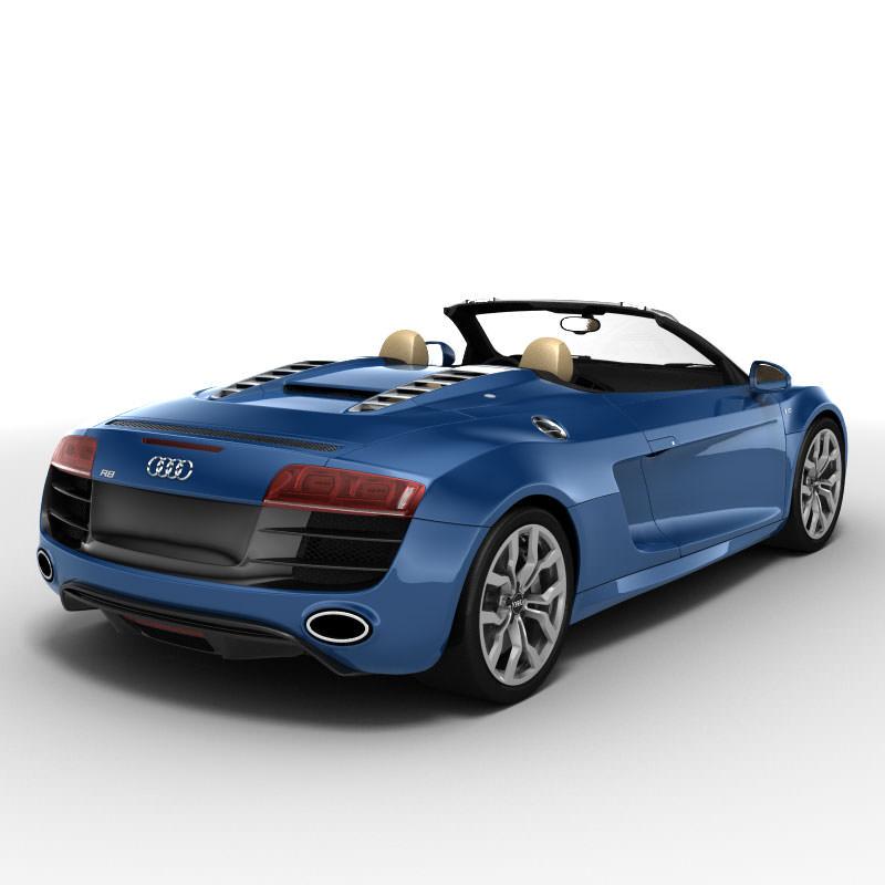 Spyder Sports Car: 3D Model Audi R8 Spyder 2010