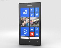 3D Nokia Lumia 520 Black