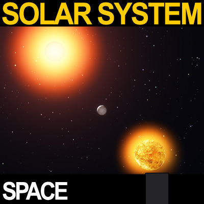 Solar System Planets Photoreal 3D Model VUE - CGTrader.com