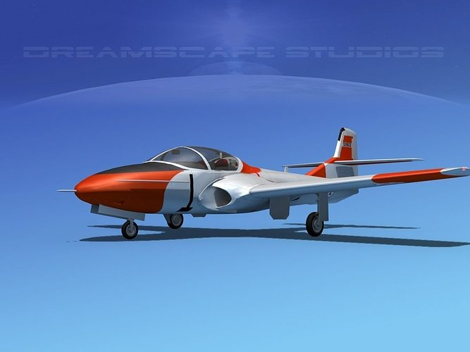 cessna t-37 tweetybird v08 portugal 3d model animated max obj 3ds lwo lw lws dxf stl 1