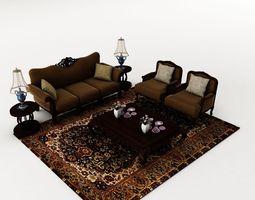 sofa set 029 3d model
