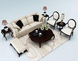 sofa set 044 3d model