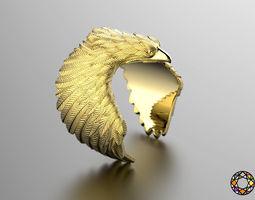 3d printable model eagle fashion ring 0156 2