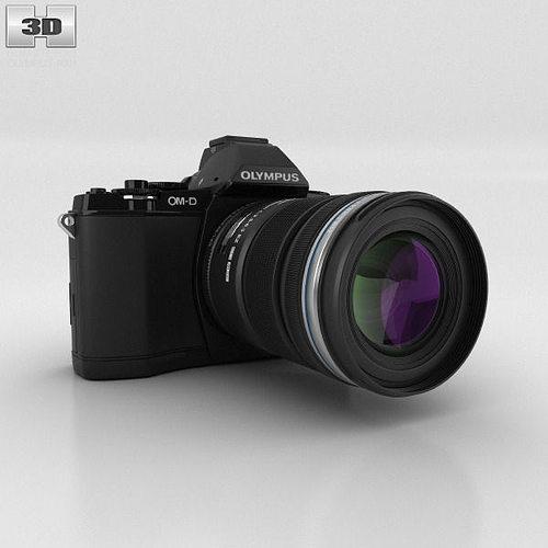 olympus om-d e-m5 black 3d model max obj 3ds fbx c4d lwo lw lws 1