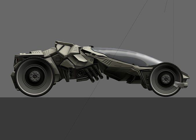 futuristic car game-ready 3d model low-poly rigged animated obj mtl 3ds fbx blend dae x3d 1